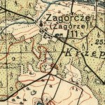 Zagórcze na Mapie Taktycznej Polski z 1936 r. (z zaznaczoną kaplicą) opracowanej przez Wojskowy Instytut Kartograficzny, skala 1:100 000, Warszawa 1936 r., słup 30, pas 46.