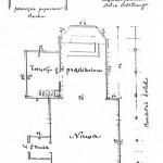Plan bebelskiego kościoła z 1863 roku, za: A. Adamczyk, Kościoły drewniane w województwie kieleckim. Kielce 1998, s. 32.