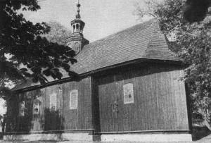 Bebelski kościół sprzed remontu w 1968 roku. Katalog zabytków sztuki w Polsce, t.3, Województwo kieleckie. Powiat włoszczowski, z. 13, Warszawa 1966.