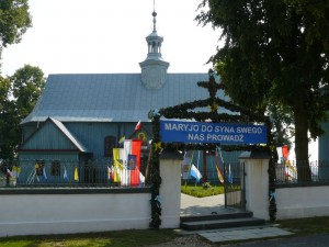 Peregrynacja kopii obrazu NMP w 2008 r. - dekoracja kościoła. Foto W. Cichecki.