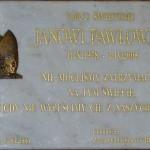 Tablica pamiątkowa poświęcona Janowi Pawłowi II. Foto W. Cichecki.