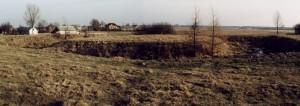 Widok na bebelskie Wieżysko [1996 r.]. Foto C. Nowak.