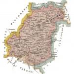 Powiat włoszczowski na początku XX w. J. M. Bazewicz, Atlas geograficzny ilustrowany Królestwa Polskiego, Warszawa 1907, s. 27.