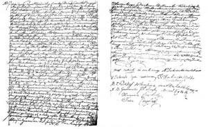 Akt ślubu Józefa Katerli i Agnieszki Jackowskiej z 1824 roku.
