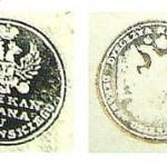 Pieczęcie dziekańskie zachowane w bebelskich księgach parafialnych z lat (od lewej): 1810, 1835, 1849, 1868, 1894, 1920.