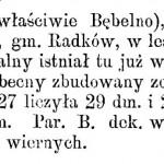 Opis Bebelna w Słowniku Geograficznym Królestwa Polskiego i innych krajów słowiańskich.