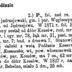 Podłazie w Słowniku Geograficznym Królestwa Polskiego i innych krajów słowiańskich.