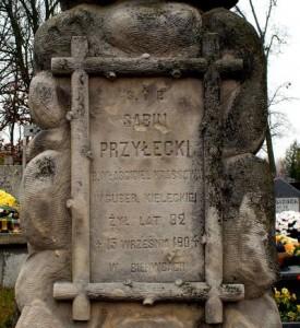 Nagrobek Sabina Przyłęckiego na cmentarzu w Lisowie [2008 r.]. Foto J. Kowalczyk (serwis internetowy Powstanie styczniowe 1863-1864).
