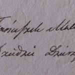 Podpis Franciszka Makólskiego