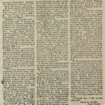 """Ogłoszenie o licytacji majątku Krzepin zamieszczone w """"Gazecie Warszawskiej"""" z 1849 roku."""