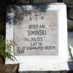 Płyta grobu Stefana Siemieńskiego na zbiorowej mogile na cmentarzu parafialnym we Włoszczowie [2012 r.]. Foto W. Cichecki.
