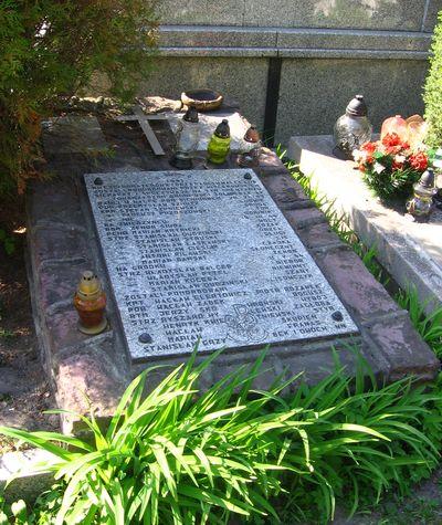 Zbiorowa mogiła m.in. partyzantów poległych na Zwierzyńcu i koło Bichniowa, znajdująca się na cmentarzu parafialnym we Włoszczowie [2012 r.]. Foto W. Cichecki.