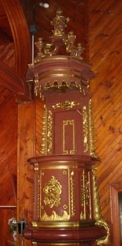 Wnętrze kościoła - ambona [2006 r.]. Foto W. Cichecki.