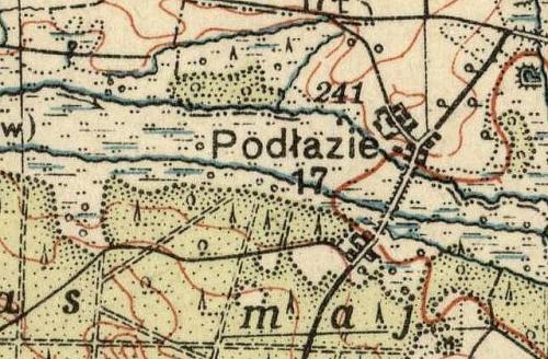 Podłazie na Mapie Taktycznej Polski z 1936 r. opracowanej przez Wojskowy Instytut Kartograficzny, skala 1:100 000, Warszawa 1936 r., słup 30, pas 46.