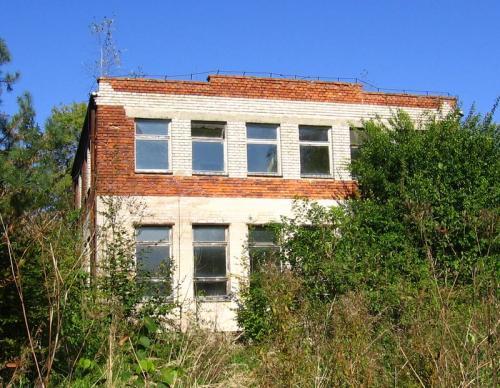 Opuszczony budynek po dawnej szkole w Krzepinie [2010 r.]. Foto W. Cichecki.