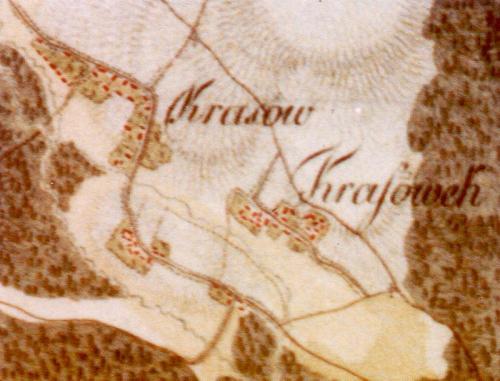 Krasów i Krasówek na Mapie Galicji Zachodniej 1804, Meyer'a von Hendelsfelda. Gmina Radków, red. R. Mirowski, Kielce 2007, barwna wkładka.