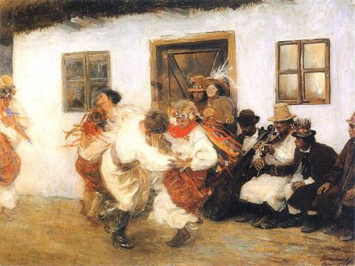 T. Axentowicz, Kołomyjka, 1895, olej na płótnie.