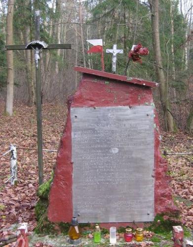 Obelisk poświęcony potyczce na Zwierzyńcu [2012 r.]. Foto W. Cichecki.